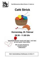 Flyer Café Strick